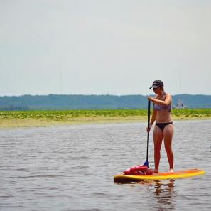 1st time paddle boarding