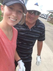 Golfing with dad