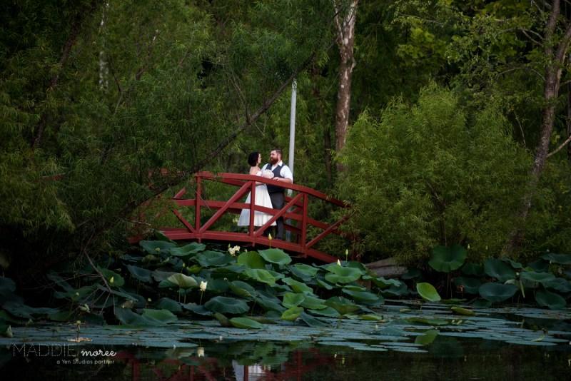 Red Bridge Bride Groom Wedding