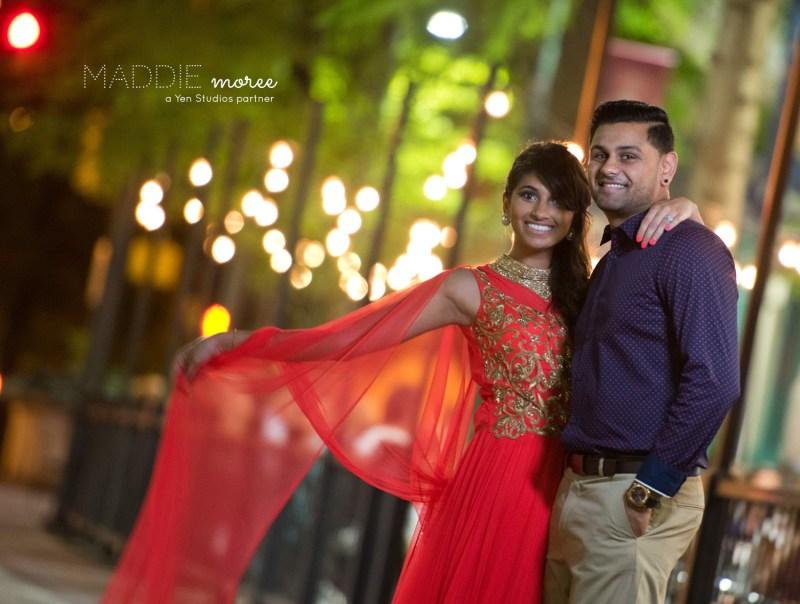 engagement indian couple memphis