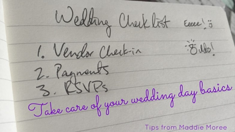 Take care of your wedding day basics