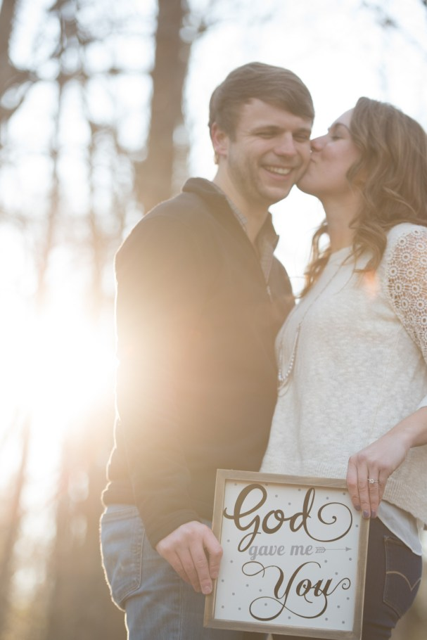 engagement session with props