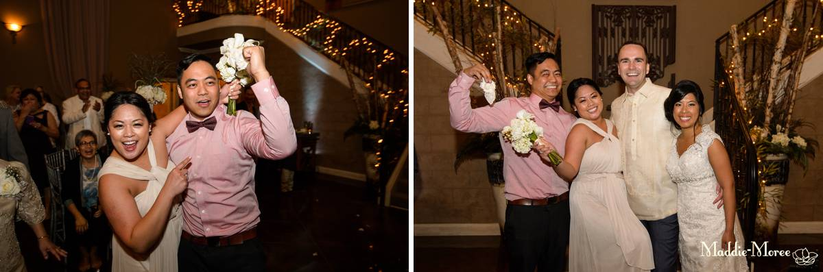 Bouquet garter toss