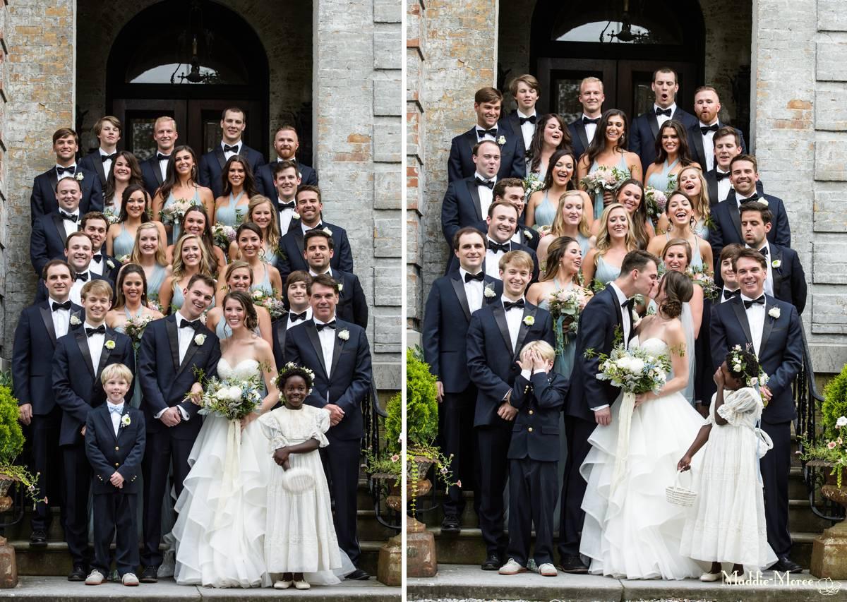 Huge wedding party