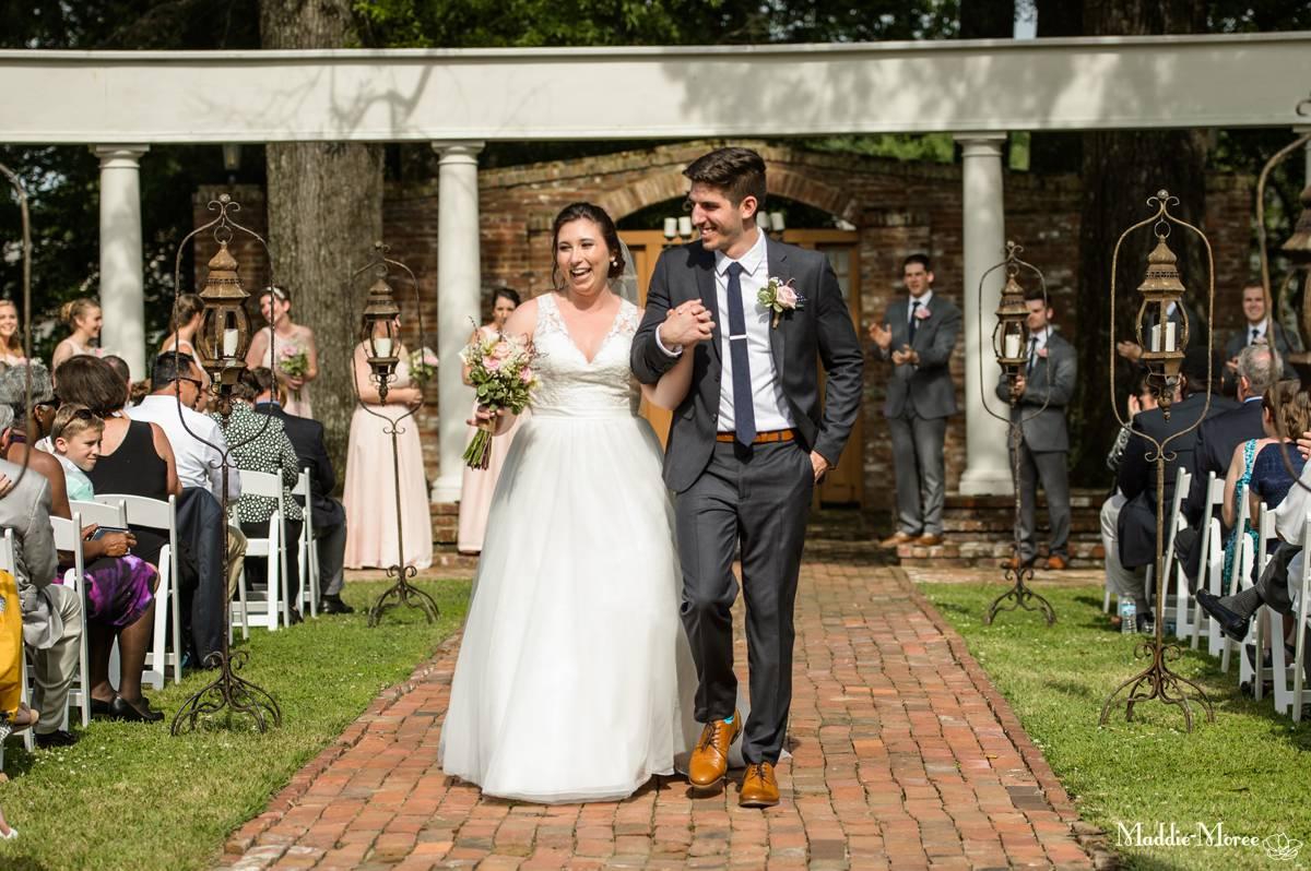 Cedar Hall Wedding recessional