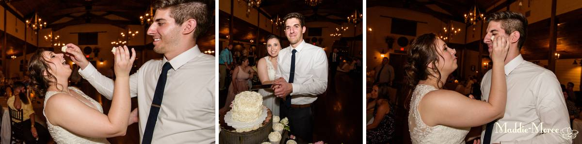 Cedar Hall cake cut