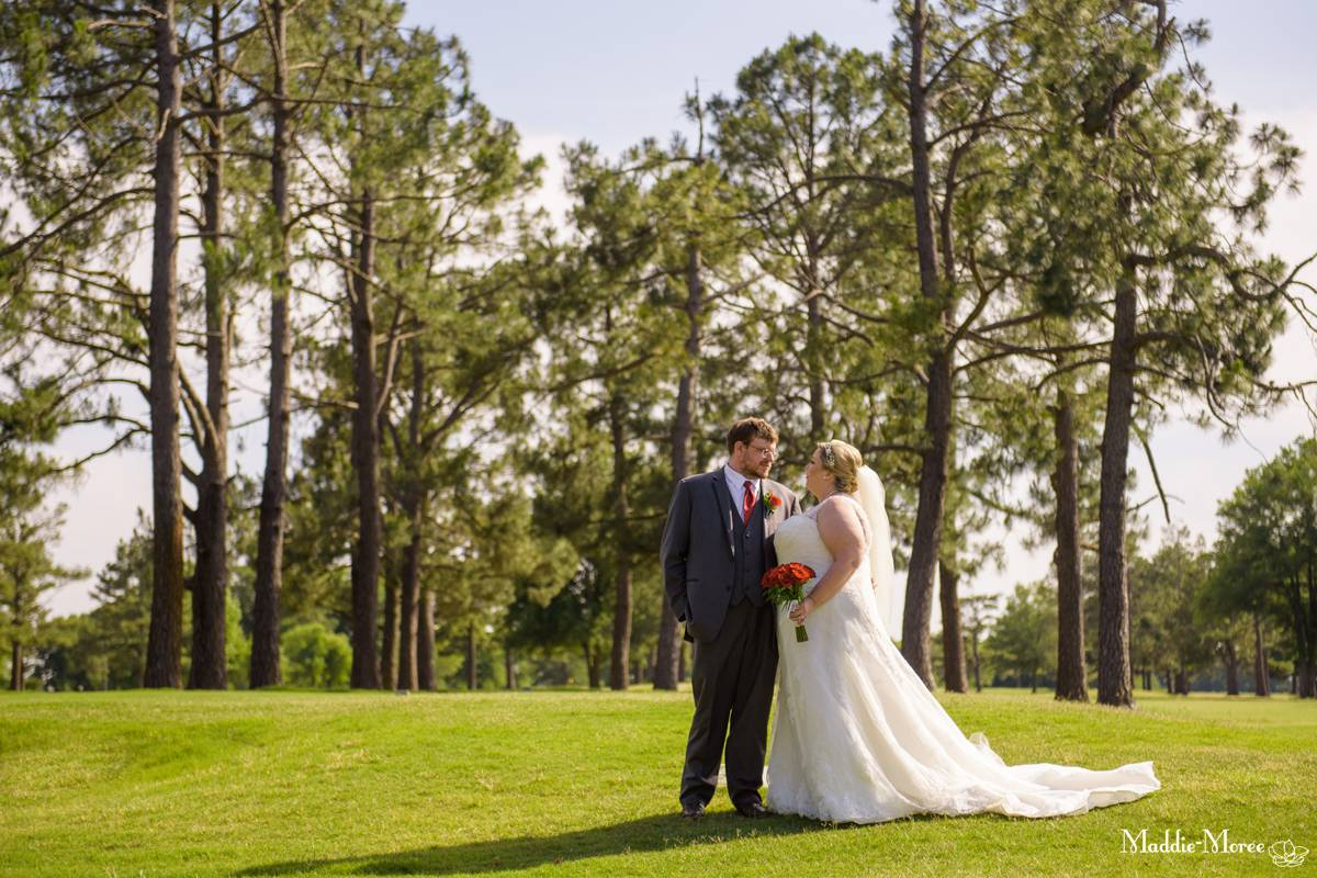 Bride groom portraits country club