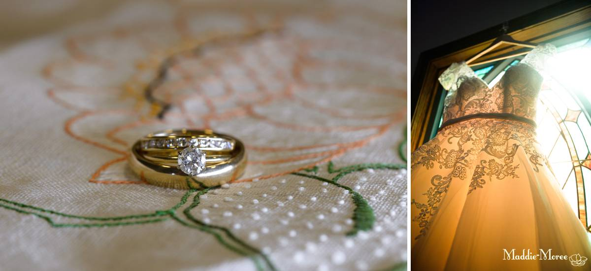 ring and dress details