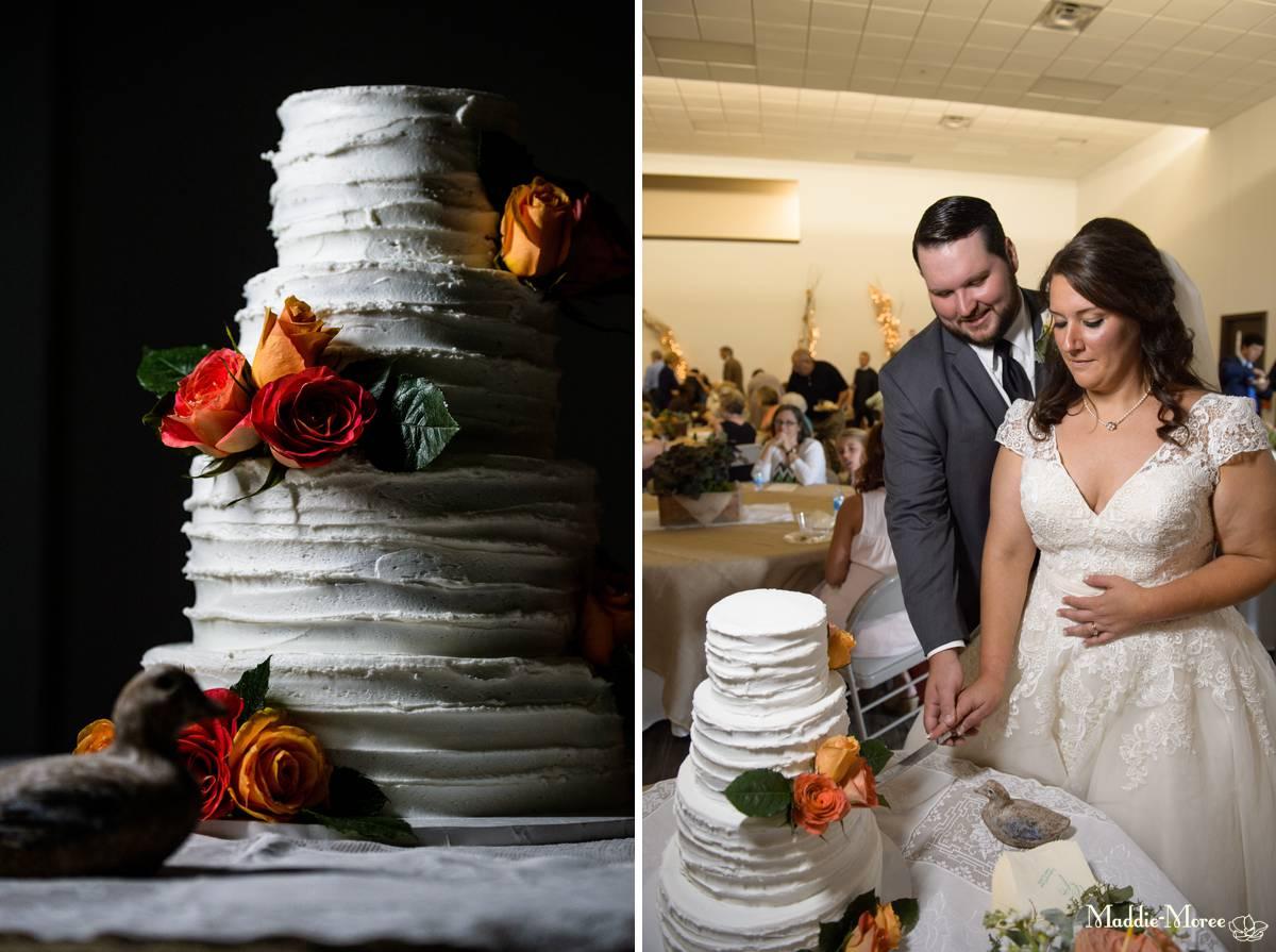 cake and cake cut