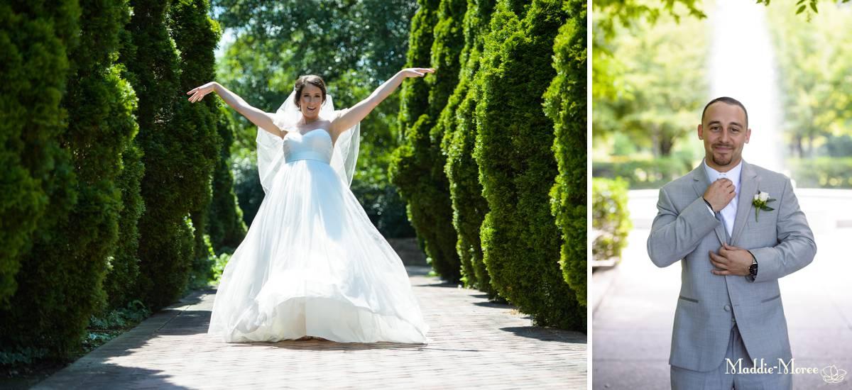bride and groom separates