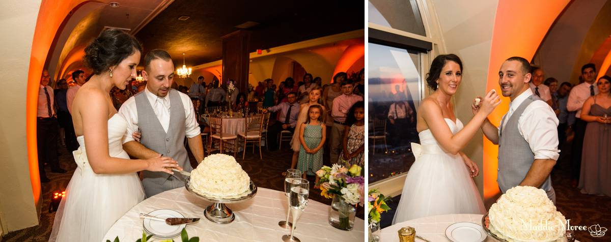 cake cut at tower room