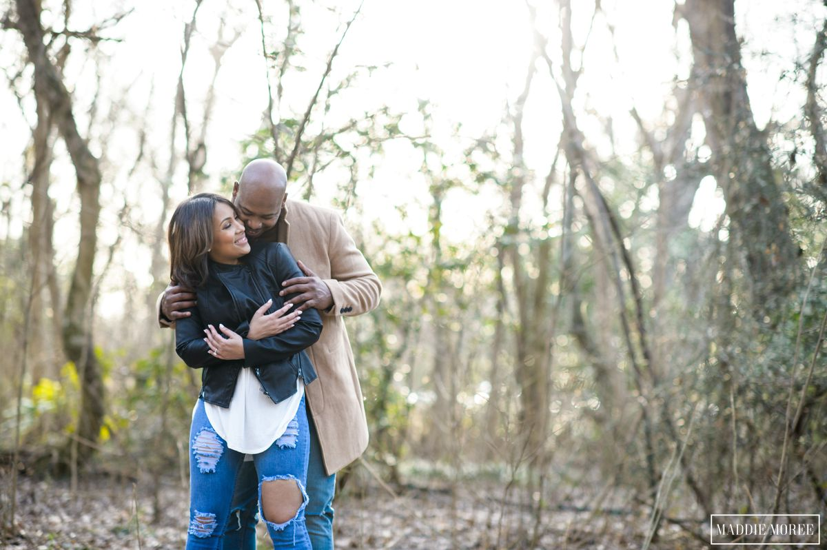 overton park winter engagement