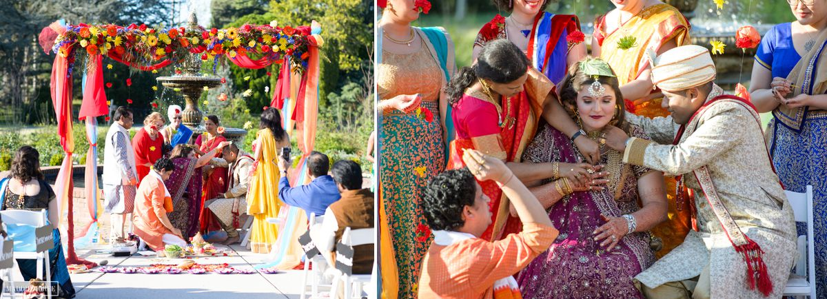 memphis botanic gardens indian wedding ceremony