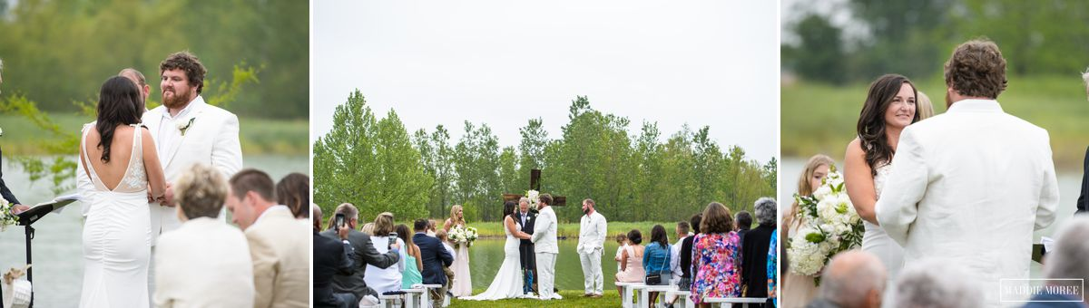 Morgan and Zack Lake wedding ceremony