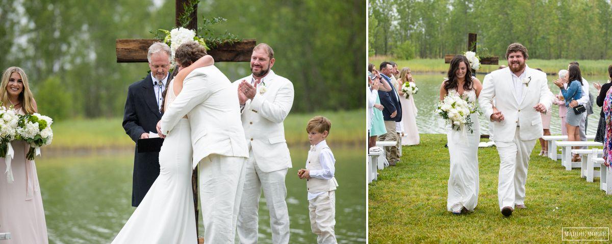 Morgan and Zack Lake wedding ceremony maddie moree