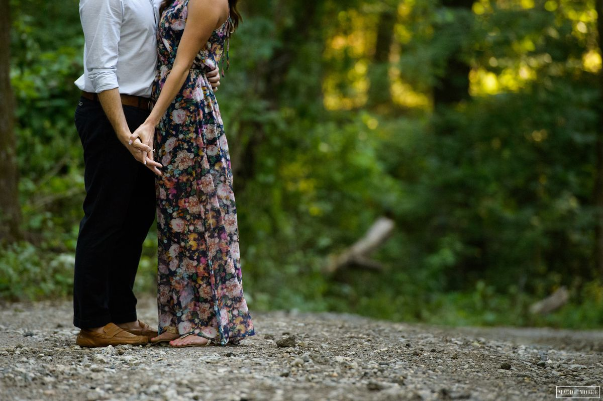 Engagement photography rustic