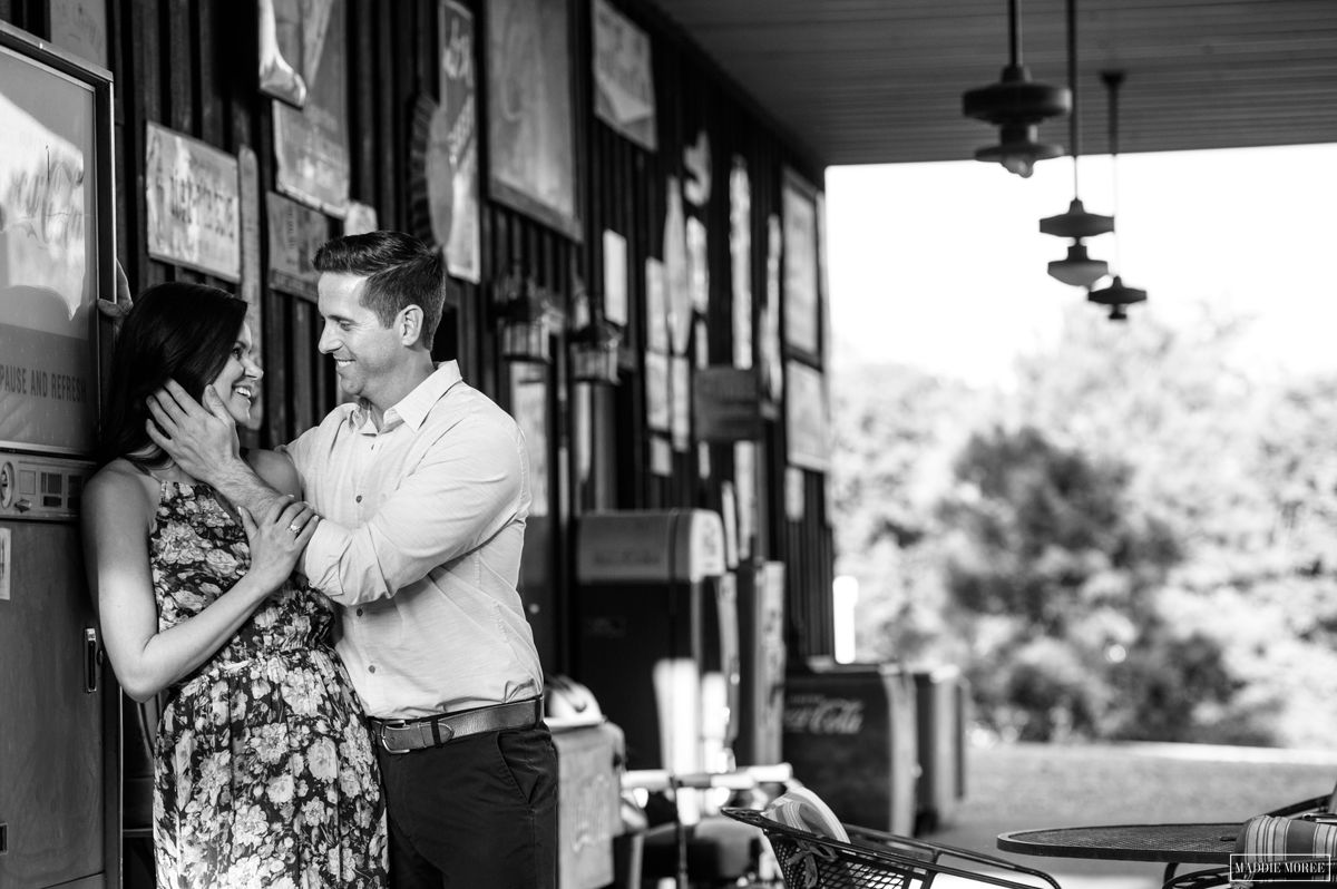 Engagement photography antique