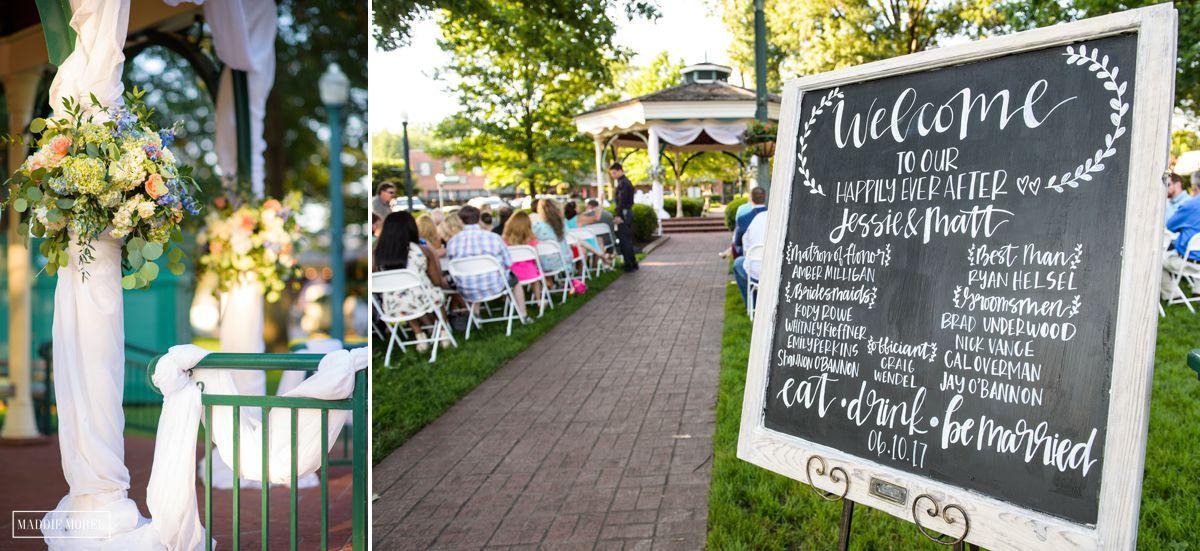 Jessie and Matt Collierville Town Square wedding 12