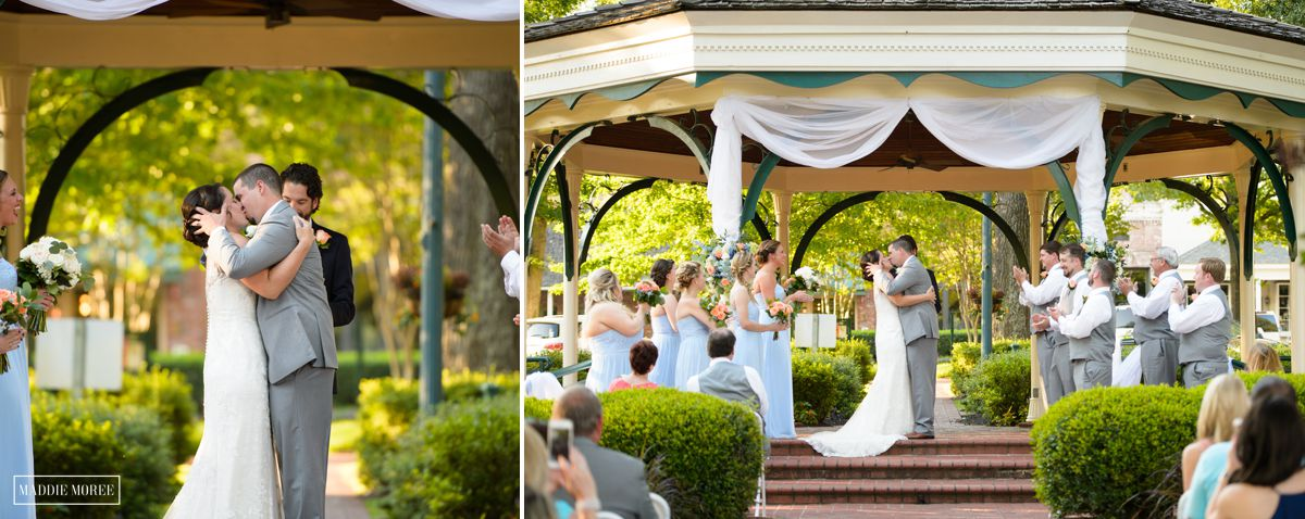 wedding kiss maddie moree collierville photographer