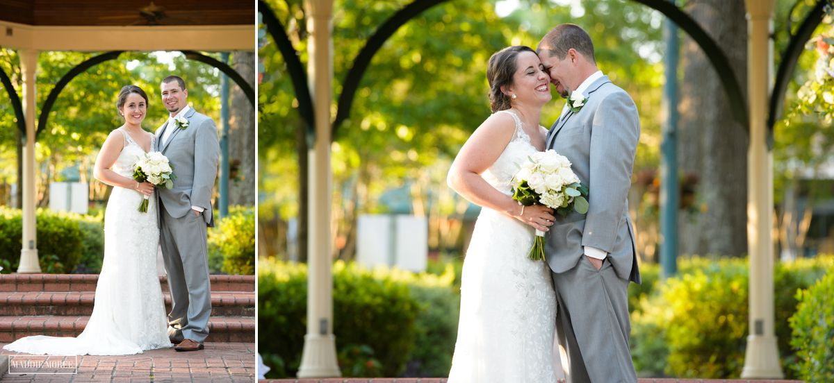 Gazebo Collierville Town Square wedding 20