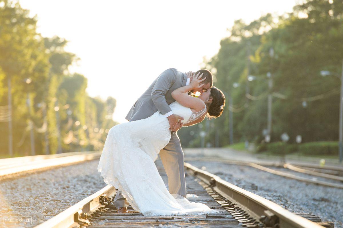 maddie moree bride and groom portrait dancing dip