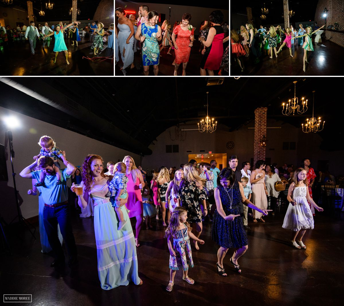 Reception at Quonset Maddie Moree Collierville Wedding photographer