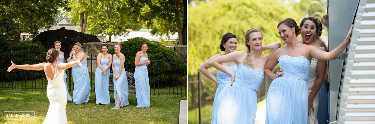 bridesmaids first look maddie moree