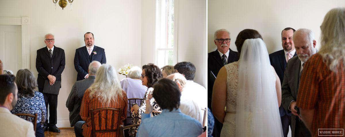 Woodruff Fontaine house wedding ceremony