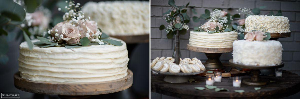 backyard reception cake