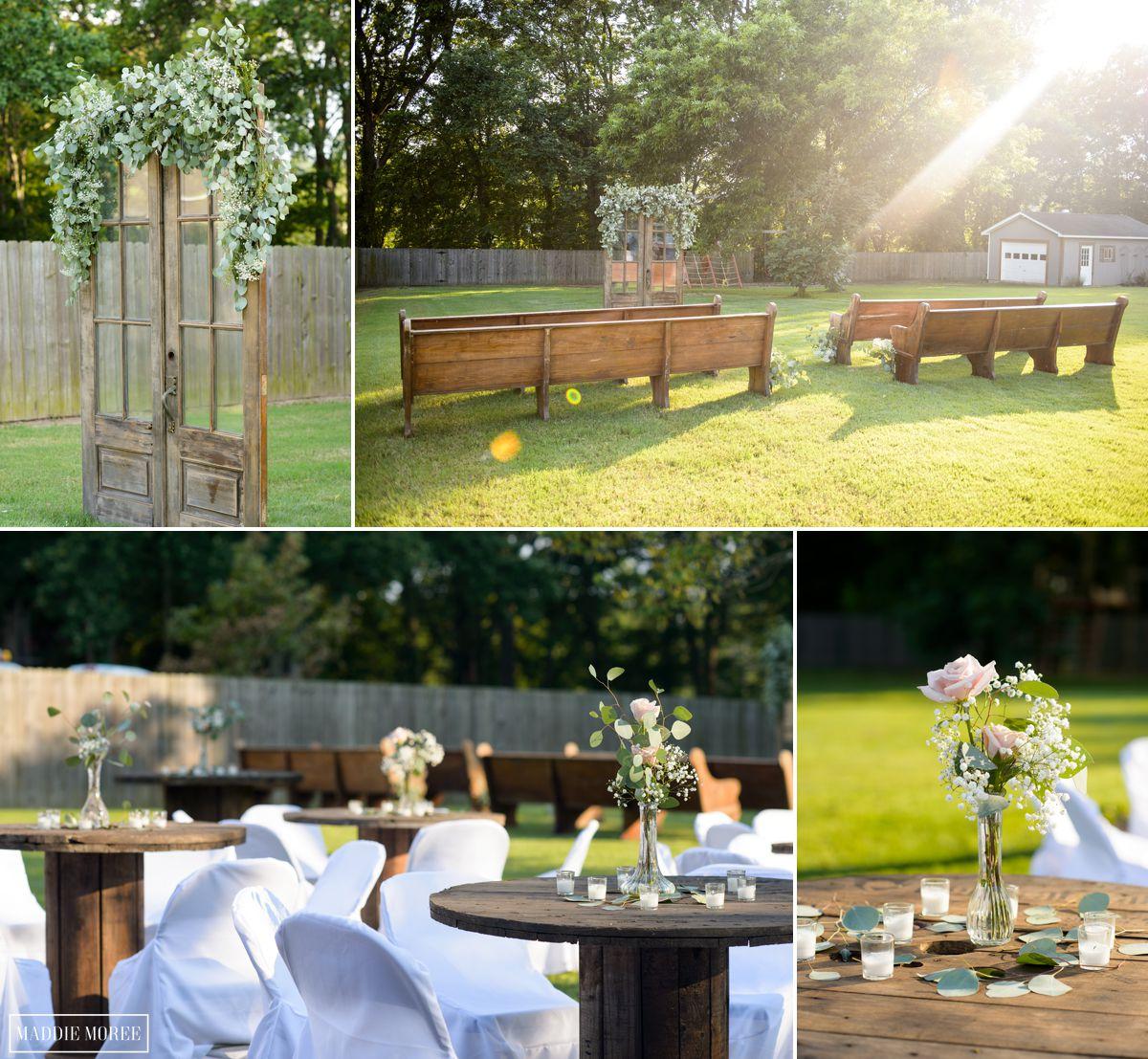 Pinterest details backyard wedding ceremony