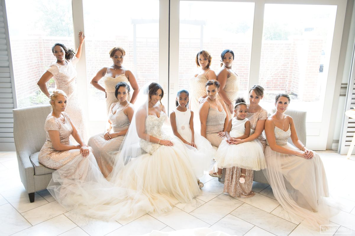 glamour bridesmaids