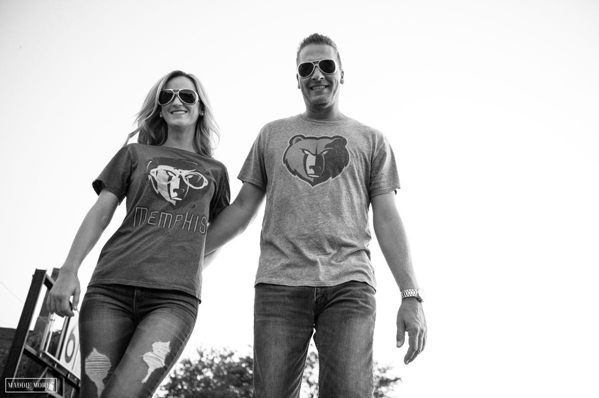 Grizzly shirt elvis sunglasses engagement photos