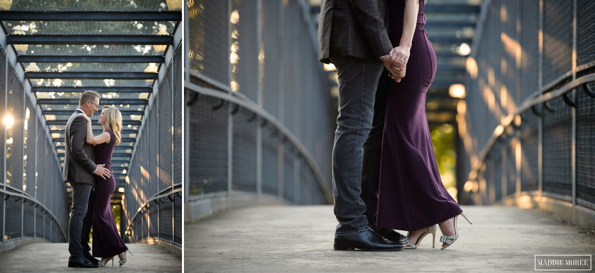 different angles engagement photography