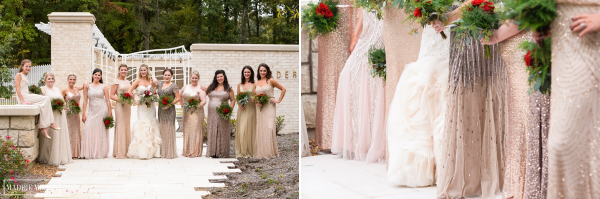 Guesthouse at Graceland wedding party photography bridesmaids