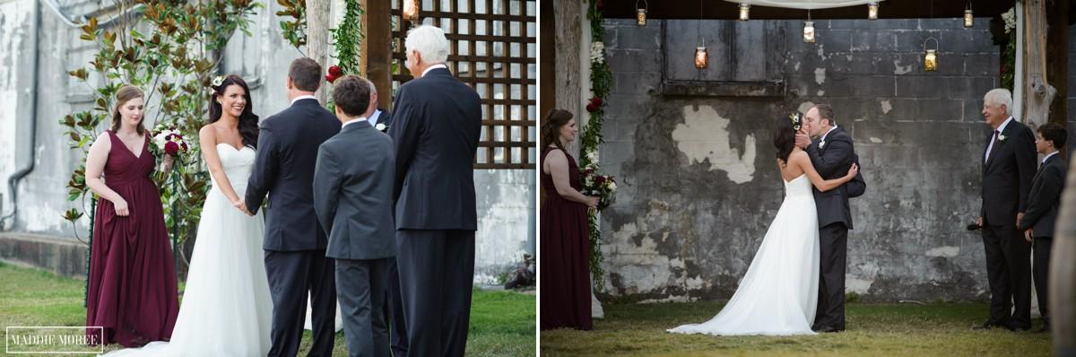 wedding ceremony the kiss