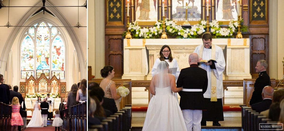 Calvary Church Maddie Moree wedding ceremony