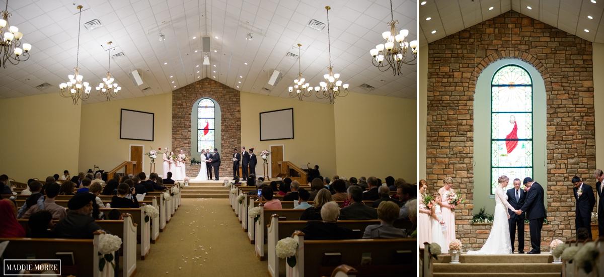Church ceremony maddie moree