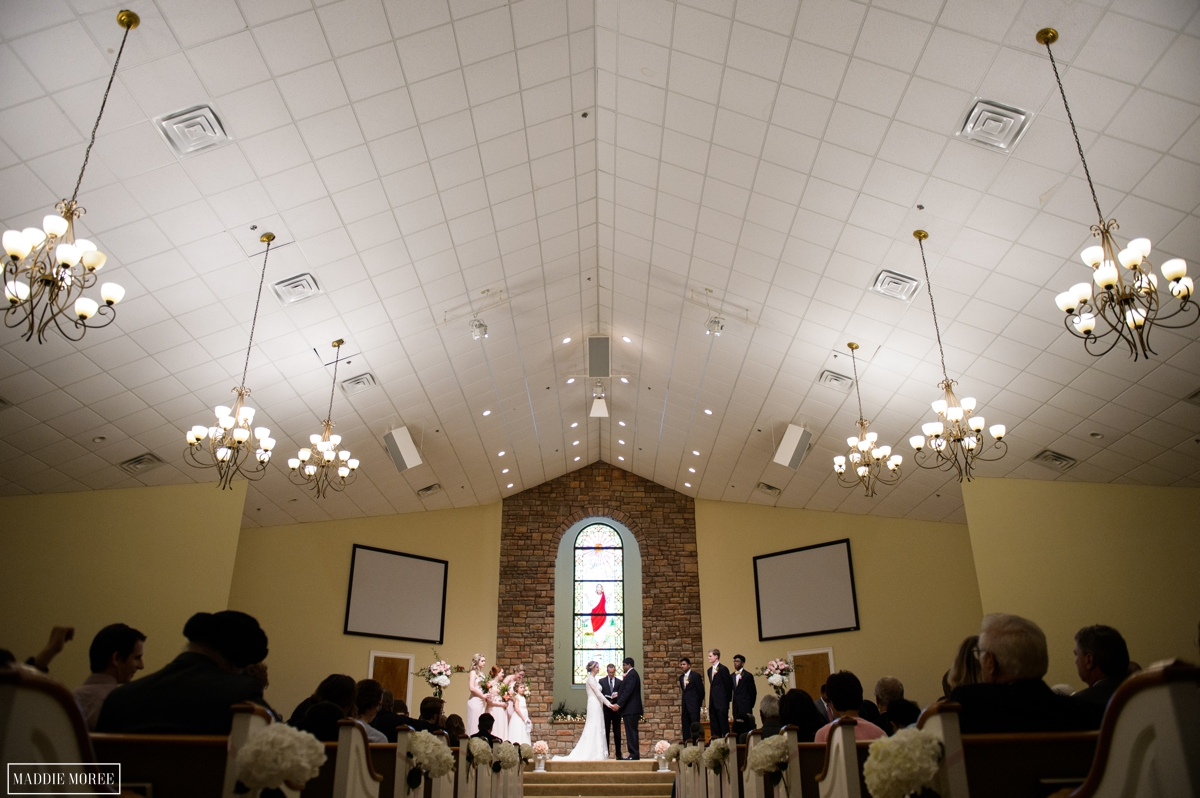 Church wedding ceremony photography maddie moree