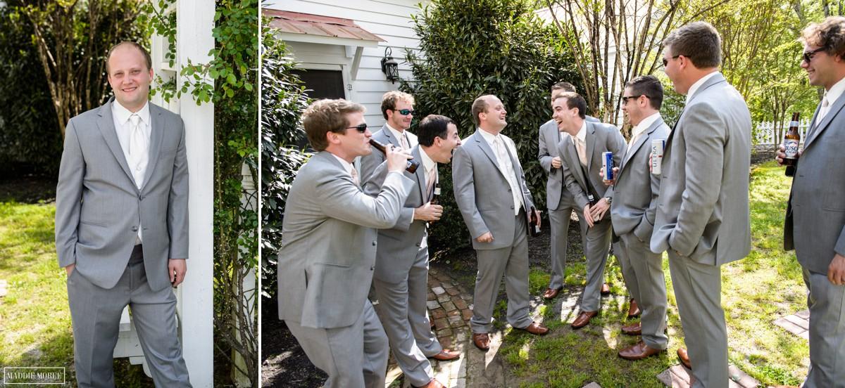groom hanging with groomsmen