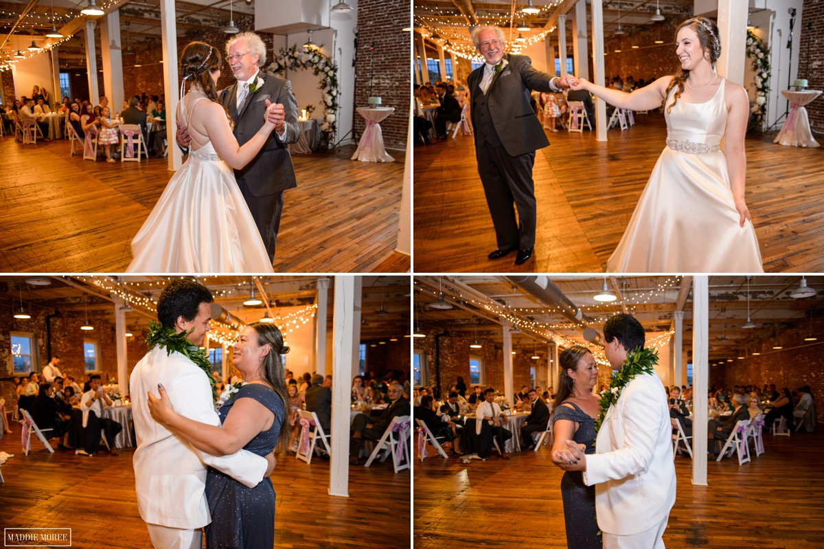 Father Daughter And Mother Son Dance Reception Memphis Wedding