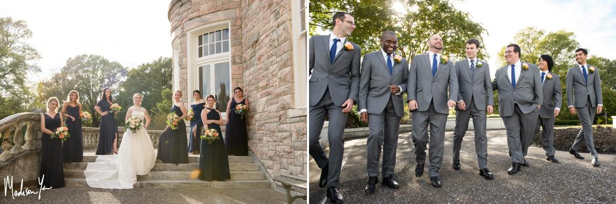 bridesmaids and groomsmen group shots maddie moree