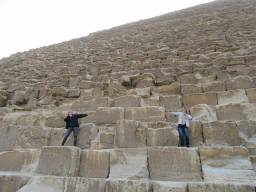 Brynn (left) and me (right) on the Great Pyramid