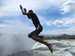 Swim in   at the Mosi-oa-Tunya (aka Victoria Falls) My African Bucket List