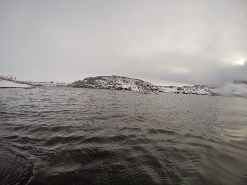 Freezing my feet off while SCUBA diving in Silfra