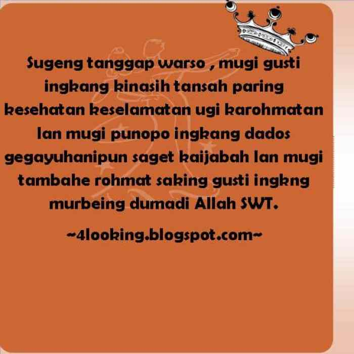 Ucapan Ulang Tahun Bahasa Jawa 1