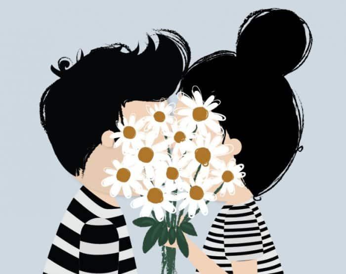 Contoh Gambar Ilustrasi Cinta