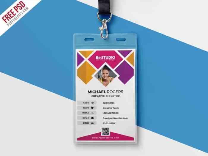 ID Card untuk Ukuran Kartu Nama