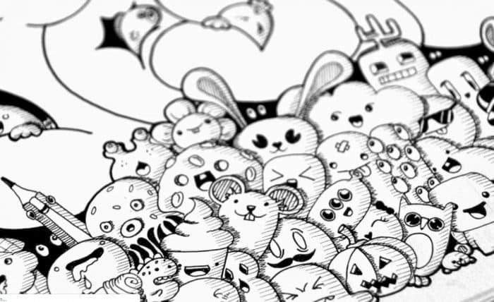 Karakteristik Dari Doodle Art Character
