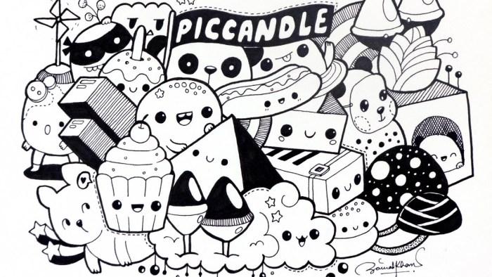 Karakteristik Gambar Doodle Art Makanan