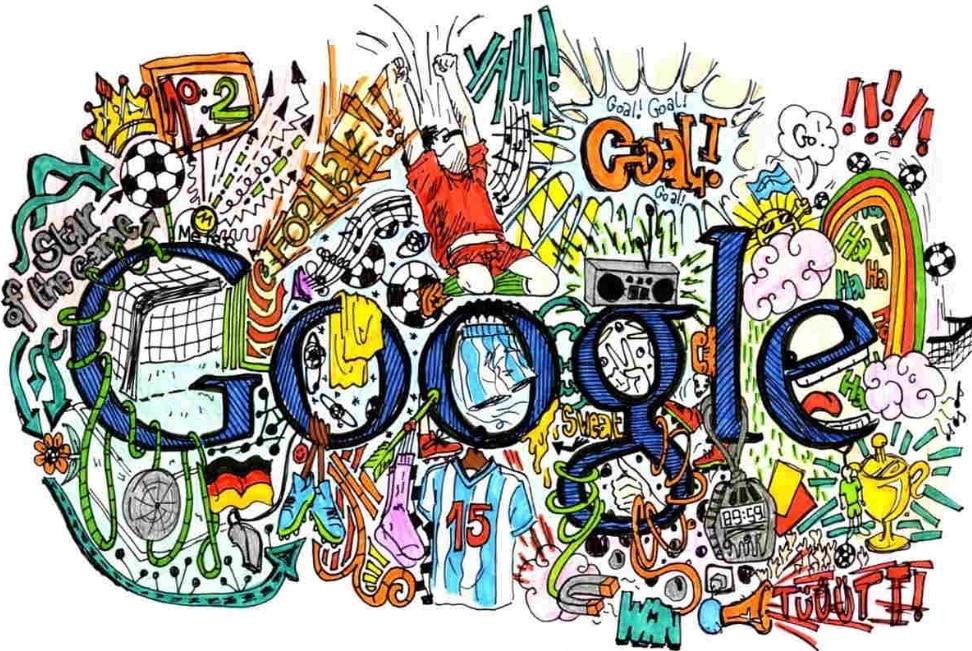 Karakteristik daei Gambar Doodle Art mengenai Google